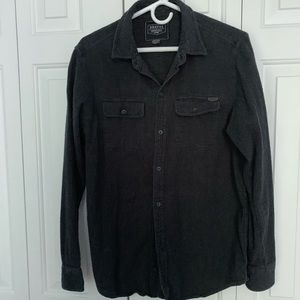 DRAVUS DARK GRAY BUTTON UP SHIRT MEDIUM